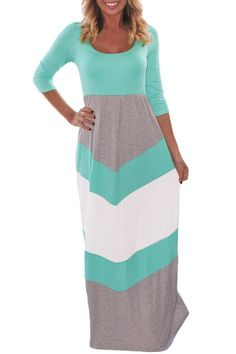online shopping for Byoauo Women Chevron Maxi Dress 3 4 Sleeve Striped Casual Long Dresses With Scoop Neck from top store. See new offer for Byoauo Women Chevron Maxi Dress 3 4 Sleeve Striped Casual Long Dresses With Scoop Neck Chevron Maxi Skirts, Chevron Dress, Grey Chevron, Gray, Striped Dress, Cheap Maxi Dresses, Cute Dresses, Long Dresses, Cheap Dress