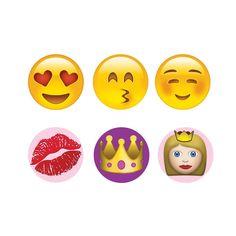 Emoji Princess Home Button Stickers