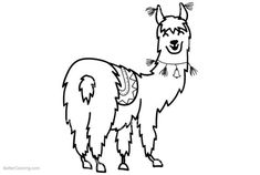 Image result for black and white llama clip art | die cut ...