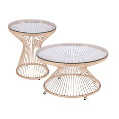 Gold Glass Coffee Table, Gold Table, Round Accent Table, Accent Tables, Tempered Glass Table Top, Modern Coffee Tables, Poppy, Table Settings, Base