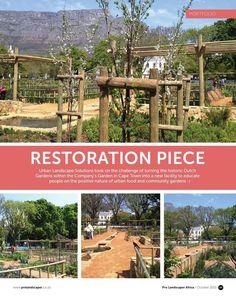 Herb Garden, Vegetable Garden, Landscape Solutions, Dutch Gardens, Medicinal Herbs, Urban Landscape, Fruit Trees, Restoration, Africa