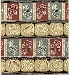 Original hand painted designs from the 1950s for textiles and wallcoverings.  Created by unknown designers working for large studios in Krefeld, Germany.