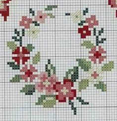 "Discover thousands of images about Gallery.ru / Foto n º 25 - KWIATY 4 - aaadelayda"", ""rose wreath cross stitch"", ""Red Floral Wreath"", ""mini coronery"", ""Flower ring"" ] # # # # # # # # # # Mini Cross Stitch, Cross Stitch Cards, Cross Stitch Borders, Cross Stitch Rose, Cross Stitch Flowers, Cross Stitch Designs, Cross Stitching, Cross Stitch Patterns, Blackwork Embroidery"