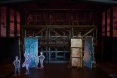 Designer Tobin Ost conceived a modular set to represent the multitude of Manhattan locations in Newsies. Fairy Makeup, Mermaid Makeup, Makeup Art, Fantasy Hair, Fantasy Makeup, Set Design Theatre, Design Set, Lumpy Space Princess, Animal Makeup