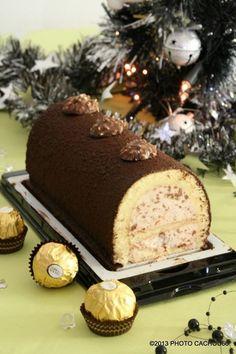 bûche aux rochers Ferrero (recette clic sur photo)