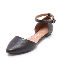 Jeffrey Campbell Lovins Ballet Flats (775 CNY) found on Polyvore ankle strap flats脚踝皮带20130317