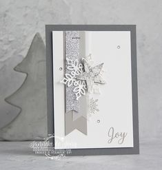Stampin 'Up! – Snow is Glistening – Mijn Swaps van On Stage Stampin & # On! – Janneke de Jong – Snow Shines – Inspiration & Selling Stampin & # s; The post Stampin 'Up! – Snow glistens – My swaps from On Stage appeared first on Jasmine Lambrick. Homemade Christmas Cards, Stampin Up Christmas, Homemade Cards, Handmade Christmas, Christmas Crafts, Company Christmas Cards, Stampin Up Weihnachten, Snowflake Cards, Snowflakes