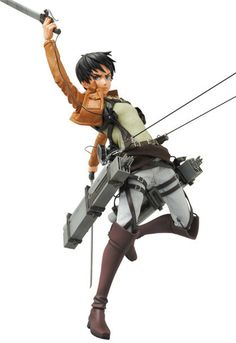 """I will exterminate every last Titan from this earth!""  Eren Yeager, the protagonist of the hugely popular series Attack on Titan is finally coming Medicom Toy's high-end Real Action Heroes lineup! Now, you can recreate your favorite scenes from the series with this highly posable figure. Included are his 3D Maneuver Gear, dual blades, Survey Corps cloak, and additional hand and wrist pieces. Th..."