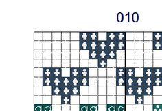 geometric modern cross stitch pattern heart set of 3 by Happinesst