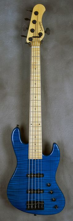 SADOWSKY NYC 5-String Bass - Trans Blue Flame Maple top body & 21-fret Flame Maple board - 6673