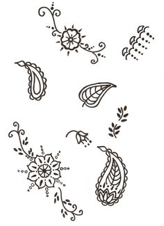 These are a few very simple henna patterns. Just very basic. Henna itself is much more intricate, but that becomes too tedious to ice.     Don...