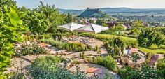 Travelo - Bor - Nem csak Budapesten lehet jót enni: gasztrotúra Magyarországon I. Romantic Places, Terrazzo, Fine Dining, Hungary, Budapest, Golf Courses, Vineyard, Nice, Outdoor