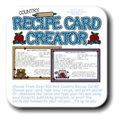 skull recipe cards pdf editable text file that you personalize and