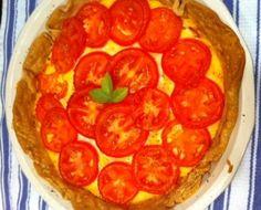 Meatless Monday Tomato Pie (pizza)
