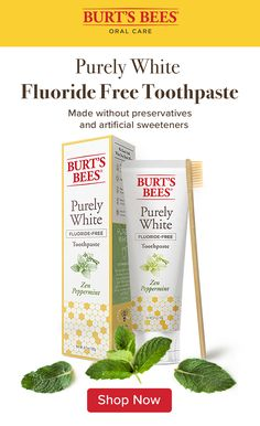 This toothpaste, made with fluoride, is flavored with an essential oil Mint Medley, for freshness you can taste. Burt's Bees toothpastes with fluoride are ADA accepted. Tap the Pin to learn more and shop now! Glo Up, Dental Health, Health Care, Fresh And Clean, Burts Bees, Natural Health, Peppermint, Pure Products, Beauty Products