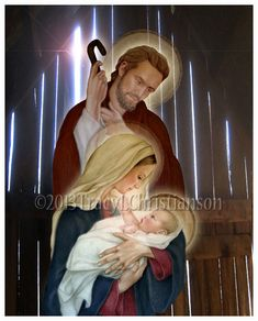 De Heilige familie de St. Joseph de Maagd door PortraitsofSaints