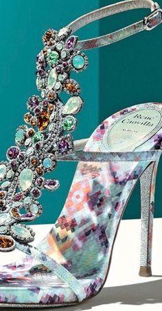 René Caovilla New luxury bejewelled heels #Luxurydotcom