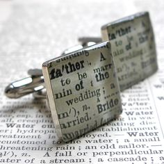 Father of the Bride Cuff Links Father of the Bride by dlkdesigns