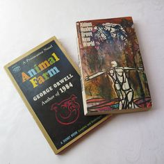 Brave New World Animal Farm Aldous Huxley George Orwell 1968 1958 Vintage Paperback Provocative Novel Signet Mid Century Futuristic Dystopia by stonebridgeworks on Etsy