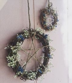 "etsycult: ""Pentagram Protective Home Wreaths by TheMoonGoddessMarket """