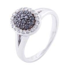 #Malakan #Jewelry - Silver Black Velvet Diamond Ladies Ring  66624A3 #BlackVelvetDiamond #BlackVelvetDiamonds