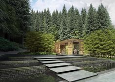 Image 14 of 15 from gallery of Kengo Kuma Designs Cultural Village for Portland Japanese Garden. Photograph by Kengo Kuma & Associates Kengo Kuma, Cultural Architecture, Garden Architecture, Amazing Architecture, Architecture Design, Timber Architecture, Japanese Architecture, Contemporary Architecture, Portland Garden
