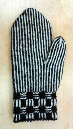 HV-skolan Stickresan Tvåändsstickning Karin Kahnlund Knit Mittens, Knitted Gloves, Knit Stranded, Origami Easy, Knitting Charts, Twine, Knit Crochet, Stitch, Fabric