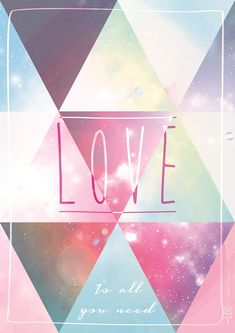love is all you need / phrase d'inspiration par Studio Lou pour Hi love magazine / + sur withalovelikethat.fr