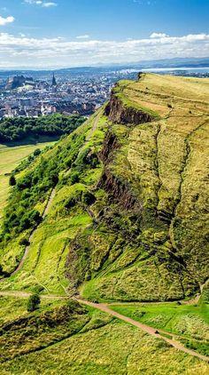 Arthur's Seat overlooking Edinburgh, Scotland.