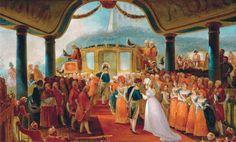 Desembarque de Leopoldina de Habsburgo-Lorena, 1817 / Arrival of Archduchess Leopoldina of Habsburg-Loren, by Debret in 1817