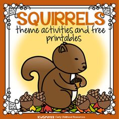 Squirrels theme activities, printables, centers and games for preschool, pre-K and Kindergarten. Letter S Activities, Preschool Learning Activities, Preschool Curriculum, Preschool Classroom, Learning Tools, Homeschooling, Classroom Ideas, Lesson Plans For Toddlers, Preschool Lesson Plans