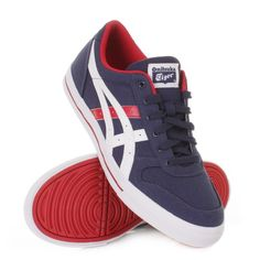 20bcb6ed9e  Onitsuka  Tiger Aaron  Trainers - Medival Blue   Tango Red. £50