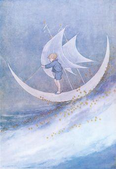 Ida Rentoul Outhwaite, Moon Boat
