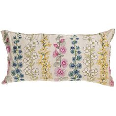 Coral and Tusk - flowers long pillow