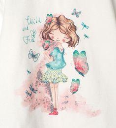 Imagen 4 de Camiseta estamapdo brillos de Zara
