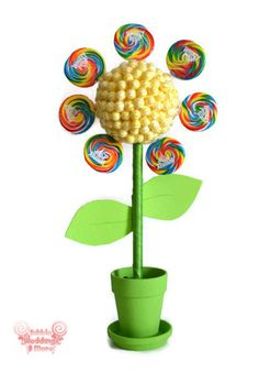 Large Flower Lollipop Candy Topiary Flower by EdibleWeddings, $54.99