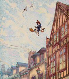 Yaphleen's Studio Ghibli Tribute Illustrations: Kiki's Delivery Service