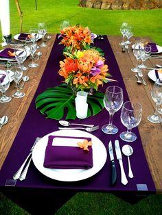 Wedding Table Settings Tropical Ideas For 2019 Luau Wedding, Hawaii Wedding, Wedding Ideas, Trendy Wedding, Wedding Themes, Tropical Wedding Reception, Wedding Receptions, Wedding Ceremony, Wedding Planning