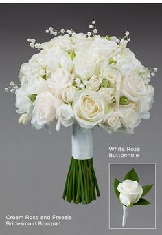 white wedding flowers bridal flowers - Page 39 of 100 - Wedding Flowers & Bouquet Ideas White Wedding Bouquets, Bride Bouquets, Flower Bouquet Wedding, Floral Wedding, Freesia Bridesmaid Bouquet, Freesia Bouquet, Bridesmaid Flowers, Bridesmaids, Cream Roses