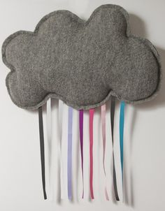 super cute rain cloud for Zeke's room. You could make things to represent all weather, and change it daily.