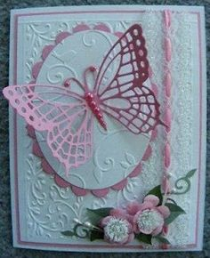 Handcrafted by Helen: Butterfly card
