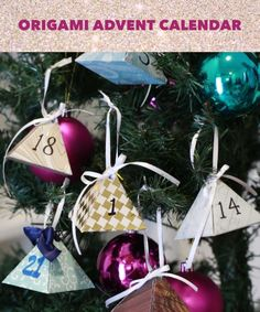 Celebrate The Season With This Origami Advent Calendar