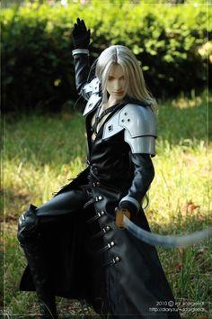 Sephiroth striking a pose by scargeear.deviantart.com on @deviantART. Um, yes! Way cool!