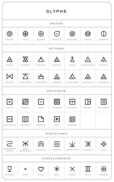 tattoos - glyphs tattoo designs:
