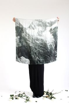 light as a feather mountain silk scarf INCLUDES by fieldguided, $119.00