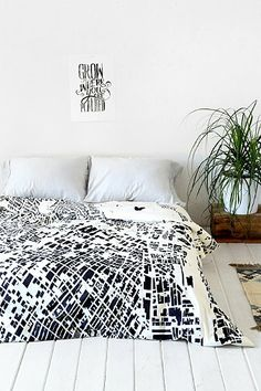 CityFabric Inc For DENY La White Duvet Cover - Urban Outfitters