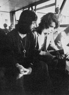 David Enthoven and Michael Giles at Heathrow Airport   October 27, 1969