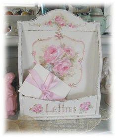"""Vintage Roses """" Lettres"""" Holder"""