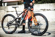 Cube is tight-lipped about the carbon prototype that Nico Lau and Greg Callaghan will be racing at the EWS final this weekend. 29er Mountain Bikes, Mountain Biking, Mtb, Creative Design, Trail, Cycling, Wheels, Bicycle, Anime