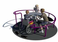 Play equipment company Sutcliffe Play has developed a new inclusive roundabout that enables children of all abilities to play side-by-side.